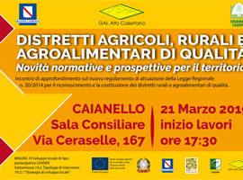 Distretti Agricoli, Rurali e Agroalimentari di Qualità – 21.03.2019